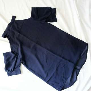 Navy blue off shoulder Top/dress