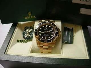 Rolex 116618 LN Submariner 亂碼卡95新