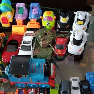 Vehicles and thomas train