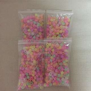2 For $6.50, 4 for $10 - BN 9mm Pony beads glow in dark Each pack has 250 beads