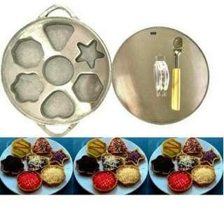 Cetakan Kue 7 Lubang Wajan Penggorengan Mini BINTANG Segi Empat Segitiga Bulat Bunga Cubit Martabak Mini Lumpur Apem Serabi Pancake Apem