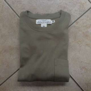 H&M army green oversized tee's