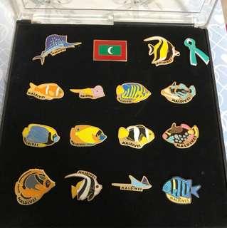 Maldives Pin-on Fish set
