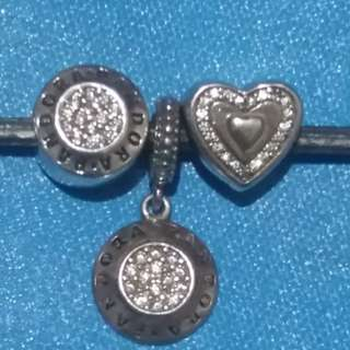 Bundle Pandora Pendant and Charms Inspired Silver 92.5 with Ale