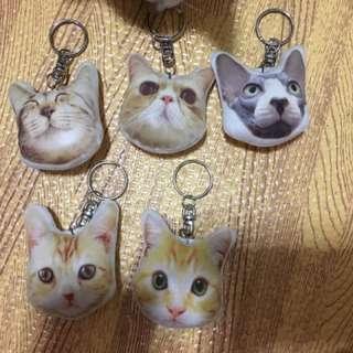 泰國帶回可愛貓咪鑰匙圈