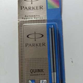 Parker authentic refill blue x5