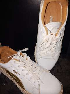Sneakers puma white gold