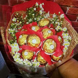 Ferrero and Rose Bouquet