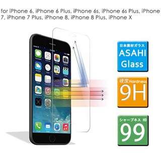 [現貨發售] 全新iPhone 6/7/8/6 Plus/ 7 Plus/ 8 Plus /X 日本料玻璃手機貼