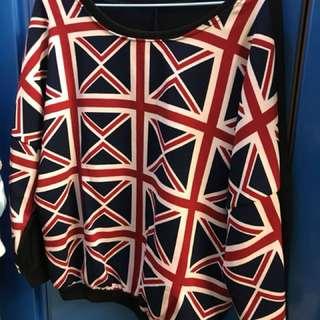 英倫風長袖上衣