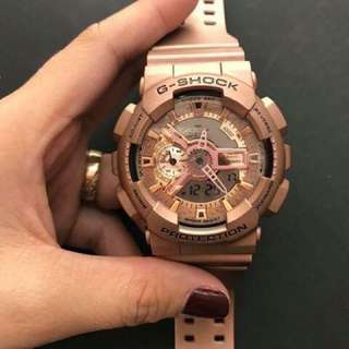 GSHOCK GOLD AND ROSEGOLD WATCH