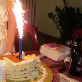 Fireworks Birthday Sparkle Candles