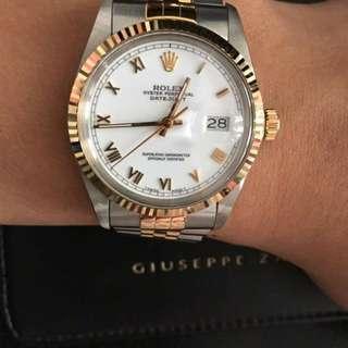 Rolex Datejust 16013 金鋼