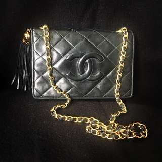Vintage chanel tassel mini bag 1989