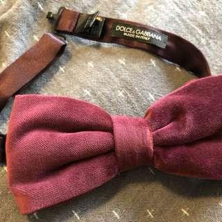 D&G velvet bow tie