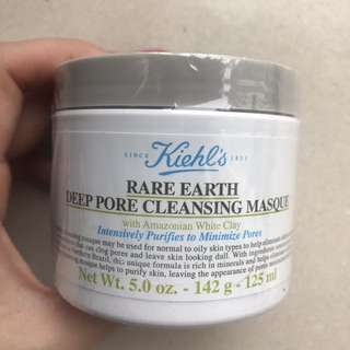 Kiehl's rare earth deep pore cleansing masque 深層清潔白泥