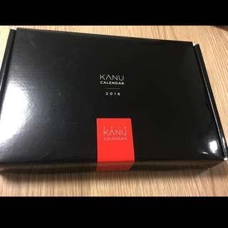 孔劉Kanu 2018坐枱月曆 連Kanu latte30裝 1盒 包郵