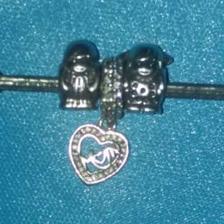 Pandora inspired charms and pendant 92.5 silver Ale