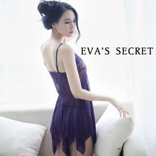 夏娃的祕密  夏娃精選 吊帶裙蕾絲睡裙   集中托高胸型