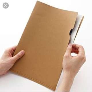 Discontinued Muji Denim Tag A4 Folder/File/Document Sleeve