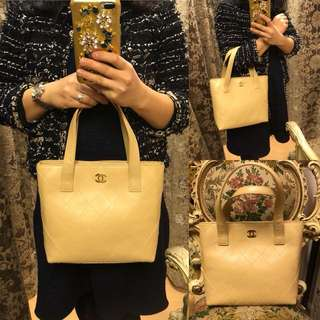 Vintage chanel leather handbag