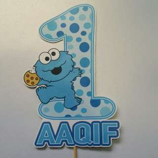 $8 Cookie Monster Cake Topper Centrepiece