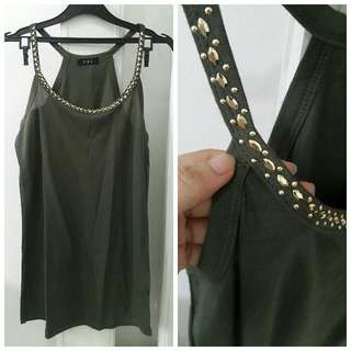Tank Top Hijau Army