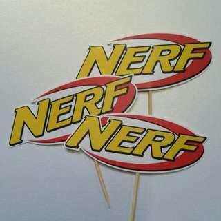 $8 Nerf Cupcake Topper