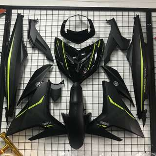 SNIPER 150 Y15ZR EXCITER MX KING COVERSET FAIRING MATTE BLACK FLUO YELLOW DESIGN