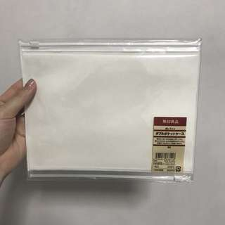 Discontinued Muji B6 EVA Double Sided Zip Pockets Pouch