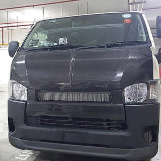 Hiace Euro3 4 5 6 LNIB carbon Bonnet Ultraman Style. Used For 3 Weeks Only. Clearing Cheap Due To New Bonnet Reaching. Selling Below Cost. 1 Pc Only. Same Price As Fiberglass Bonnet. Cash And Carry.