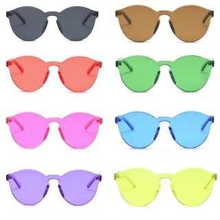 Retro Cat Eye Integrated Sunglasses Designer Candy Colour