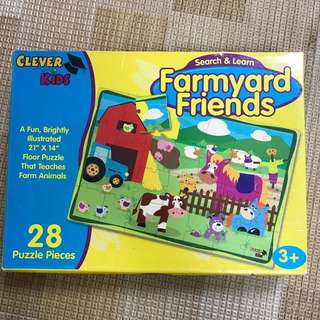 Baby kids Educational jigsaw Puzzles/farmyard puzzles