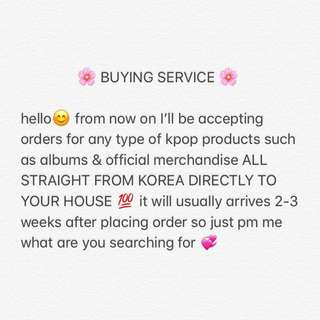 🌸BUYING SERVICE🌸