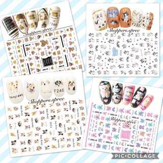 Dog 🐶 Nail stickers Teddy & Cats