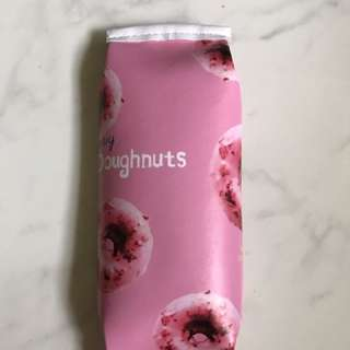 Pink donut pencil case