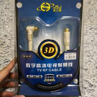SCV to TV coaxial cable (L-port)