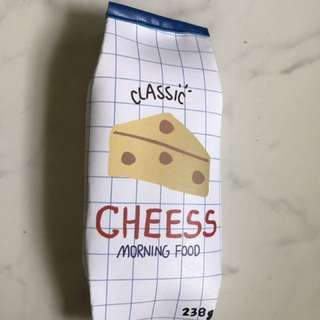 Cheese white pencil case