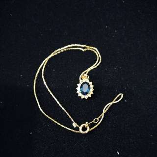 Blue diamond necklace FREE POSTAGE