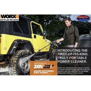 WORX 20V Portable Power Cleaner - First-Of-Its-Kind, 320 psi / 22 bar