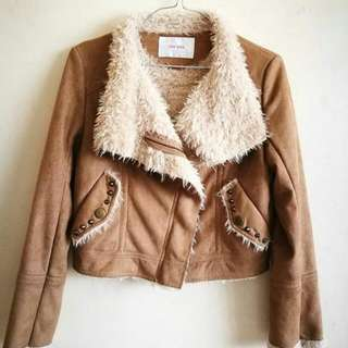 Suede With fur Jacket ❤