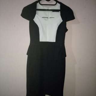 Jual Murah Black & White Dress (Dorothy Perkins)
