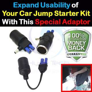 ★ Rare And Practical Adaptor Cable for Car Jump Starter Kits ★  Cigarette Lighter Socket Car Charger Converter Adaptor Cable ★ Use Your Car Pump / Car Vacuum or Any Car Tools/Devices anywhere You Go ★