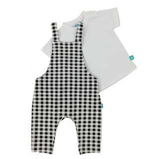 Checker Jumper with White T-shirt