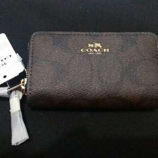 Authentic Coach double zip coin purse - brand new