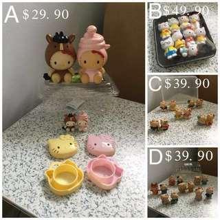 Vintage Set Of 4 Hello Kitty Figurines
