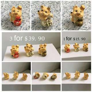 (BN)Set Of 3 Money Pig Car / Home Decoration