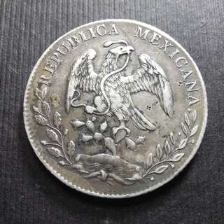 1889 Mexico Republic Silver 8 Reales 1oz 墨西歌