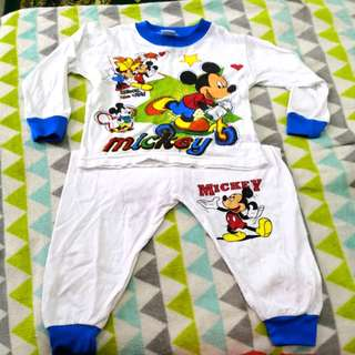 Mickey Mouse Sleepsuit set ( 6 months till 18 months)