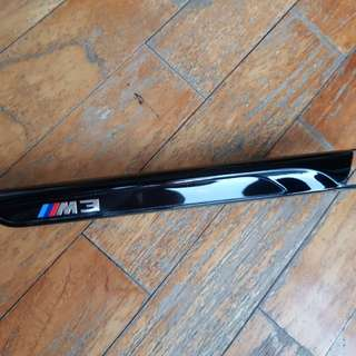 F80 bmw m3 competition gloss black side badge (x2)
